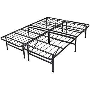 new innovated box spring alternative steel bed frame only queen home kitchen. Black Bedroom Furniture Sets. Home Design Ideas