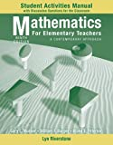 img - for Student Activity Manual to accompany Mathematics for Elementary Teachers: A Contemporary Approach, 9e book / textbook / text book