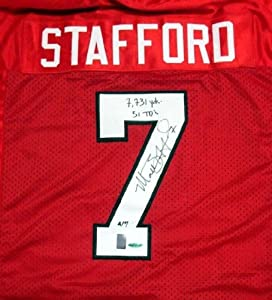 Matthew Stafford Autographed Hand Signed Georgia Bulldogs Red Jersey