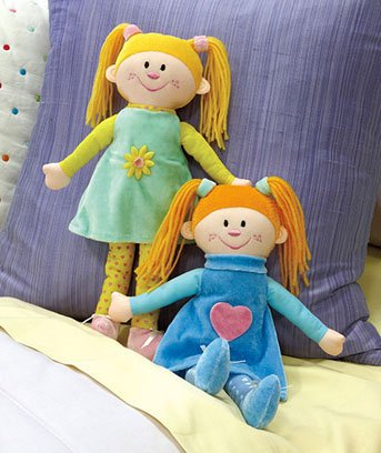 Set of 2 Cuties(TM) Rag Dolls with Birth Certificates