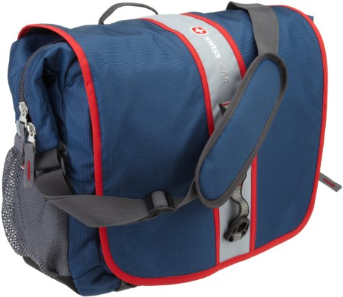 SwissGear SA1172 Dark Blue and Red Trim Messenger