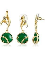 Spirit Of Iris Zirconia Jewellery Set For Women (Gold) (KS4006)