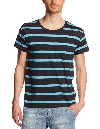Cheap Monday - Maglietta, uomo, Blu (Bleu (Navy/Turquoise)), S