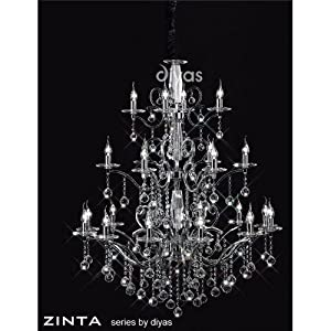 Zinta Crystal Ceiling 22 Light Gold Finish *Reviews