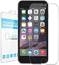 "iPhone 6 Screen Protector, Maxboost® iPhone 6 Glass Screen Protector (4.7"") - [Tempered Glass] World's Thinnest Ballistics Glass, 99% Touch-screen Accurate, Round Edge [0.2mm] Ultra-clear Glass Screen Protector Perfect Fit for iPhone 6 (4.7 inch ONLY) Maximum Screen Protection from Bumps, Drops, Scrapes, and Marks (Lifetime No-Hassle Warranty) - Retail Packaging"