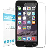 "iPhone 6 Plus Screen Protector, Maxboost® iPhone 6 Plus Glass Screen Protector (5.5"") - [Tempered Glass] World's Thinnest Ballistics Glass, 99% Touch-screen Accurate, Round Edge [0.2mm] Ultra-clear Glass Screen Protector Perfect Fit for iPhone 6 Plus (5.5 inch ONLY) Maximum Screen Protection from Bumps, Drops, Scrapes, and Marks (Lifetime No-Hassle Warranty)"