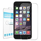 "iPhone 6 Plus Screen Protector, Maxboost® iPhone 6 Plus Glass Screen Protector (5.5"") - [Tempted Glass] World's Thinnest Ballistics Glass, 99% Touch-screen Accurate, Round Edge [0.2mm] Ultra-clear Glass Screen Protector Perfect Fit for iPhone 6 Plus (5.5 inch ONLY) Maximum Screen Protection from Bumps, Drops, Scrapes, and Marks (Lifetime No-Hassle Warranty)"