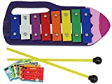 D\'Luca YSQB Kids Crayon 8 Notes Xylophone Glockenspiel with Music Cards