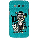For Samsung Galaxy Grand 2 :: Samsung Galaxy Grand 2 G7105 :: Samsung Galaxy Grand 2 G7102 Every Dog Has It's Day ( Every Dog Has It's Day, Good Quotes, Cartoon, Dog, Man, Blue Pattern ) Printed Designer Back Case Cover By FashionCops
