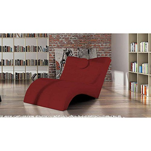 JUSThome-LONDON-Liege-Relaxliege-Loungesessel-Ecoleder-BxLxH-8476x170x92-Rot