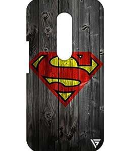 Vogueshell Superman Logo Printed Symmetry PRO Series Hard Back Case for Motorola Moto G4