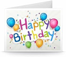 Happy Birthday (Coloured Balloons) - Printable Amazon.co.uk Gift Voucher