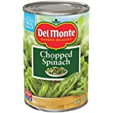 Del Monte Chopped Spinach 13.5oz Can (Pack of 6)