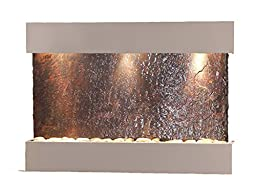 Reflection Creek Water Feature with Silver Metallic Trim and Square Edges (Natural Multi-color Slate)