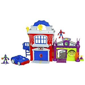 Playskool Heroes Marvel Super Hero Adventures - Spider-Man Crime Fightin' Headquarters from Hasbro
