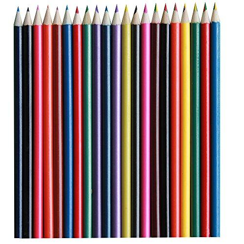21pezzi assortiti matite colorate, metallico, profumato e varianti arcobaleno
