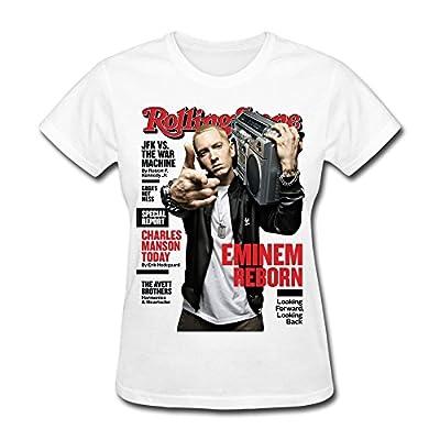 YIYT Women's Eminem Marshall Bruce Mathers III T-Shirt - White
