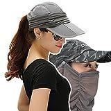 EIGER HORN(アイガーホーン) ゴルフ レディース ぼうし 帽子 日よけ UVカット 日焼け 紫外線 防止 フェイスカバー キャップ