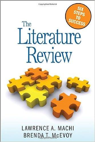 Books, Tutorials & Examples - Literature Reviews - GSU Library