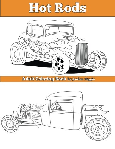 Hot Rods: Adult Coloring Book