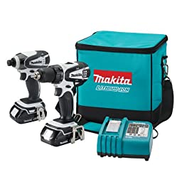 Makita LCT200W 18-Volt Compact Lithium-Ion Cordless Combo Kit, 2-Piece