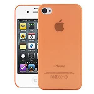 iPhone 4S Back cover, Neo Hybrid Slim Series Case LEAF Case Back Cover for Apple iPhone 4S (Orange)