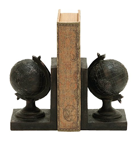Benzara World Globe Themed Book End Set