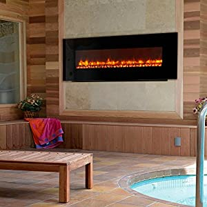Led Wall Mount Electric Fireplace Insert Style Log