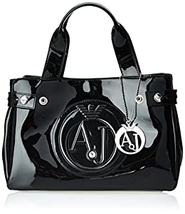 Armani Jeans 55 Mini Shopper Cross Body Bag, Black, One Size