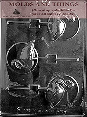 FLAMINGO LOLLY ON DISC Animal Chocolate Candy Mold With © Candy Making Instruction -Set of 2