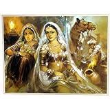 "Dolls Of India ""Banjara Beauties"" Reprint On Paper - Unframed (43.18 X 33.02 Centimeters)"