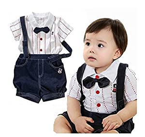 gentleman baby anzug fliege hosentr ger boy summer set t shirt. Black Bedroom Furniture Sets. Home Design Ideas