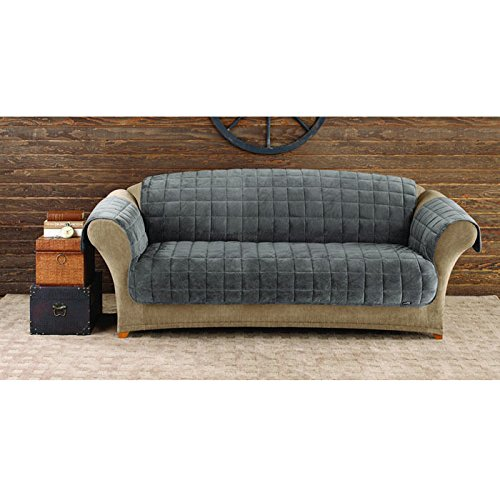 Sure Fit Deluxe Sofa Pet Throw, Dark Gray