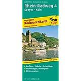 Radtourenkarte Rhein-Radweg 4, Speyer - Köln: Mit Ausflugszielen, Einkehr- & Freizeittipps, wetterfest, reißfest, abwischbar, GPS-genau. 1:50000