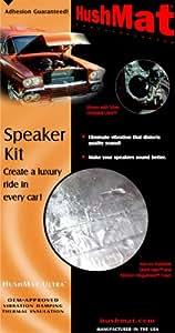 HushMat 10110 Ultra Black Foil Speaker Kit with Damping Pad - 4 Piece