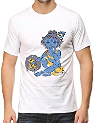 IndieMonk Men's Graphic Printed T-Shirt - Krishna