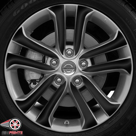 RP1053-GLBLK - Fits2015 NISSAN JUKE 17'' Wheels-GLOSS BLACK RimPrints (Vinyl Graphics) (Nissan Juke Black Rims compare prices)