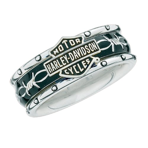 Sterling Silver Harley-Davidson Ladies Rumble & Roll Ring