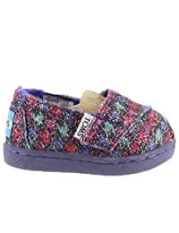 Toms Tiny Toddlers Classics in Multi Glmr Houndstooth
