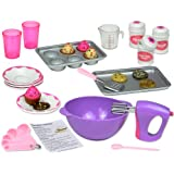 18 Inch Doll Baking Set of 26 Pcs. Fits American Girl Doll Furniture, 18 Inch Doll Cookware Set