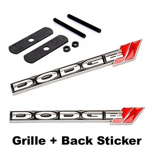 2pcs Sets AM108 DODGE Front Grille + Back Sticker Car Emblem Badge For Ram AVENGER CHARGER DART CHALLENGER Durango JOURNEY GRAND CARAVAN (Dodge Charger Ram Emblem compare prices)