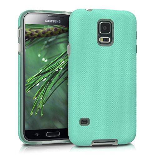 kalibri-Armor-Schutzhlle-fr-Samsung-Galaxy-S5-S5-Neo-S5-Duos-Hybrid-Dual-Layer-TPU-Silikon-Schale-und-PC-Case-in-Mintgrn