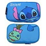 Generic Soft Cartoon Travel Carry Game Case Bag Pouch Sleeve Compatible for Nintendo DSi NDSi Style Stitch