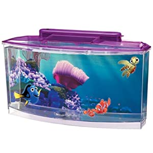 Aquarium starter kits penn plax finding nemo for Betta fish tanks amazon
