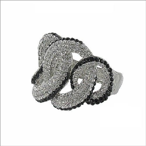 JOA Four Linked Circles Hinged Bracelet #041036