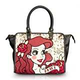 Loungefly Disney Ariel The Little Mermaid Vegan Brown Purse w Shoulder Strap