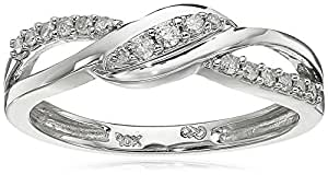10k White Gold Diamond Ring (1/6 cttw, H-I Color, I3 Clarity), Size 6