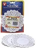 Hygloss 10041 100-Piece Round Doilies, 4-Inch, White
