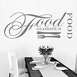food glorious food kitchen dining room wall sticker art