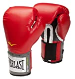 Everlast Velcro Pro Style Boxing Training Gloves - 10oz, Red